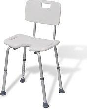 vidaXL asiento de ducha hecho de aluminio (Blanco)