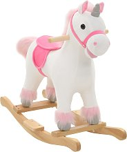 vidaXL Balancín de unicornio de peluche 65x32x58