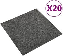vidaXL Baldosas de suelo de moqueta 20 uds 5m²