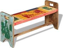 vidaXL Banco cola de madera maciza reciclada