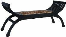 vidaXL Banco de abacá marrón oscuro 120 cm -