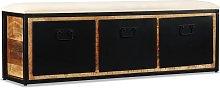 vidaXL Banco de almacenamiento 3 cajones madera de