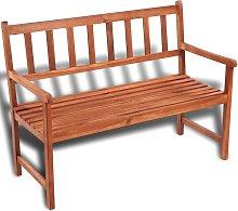 vidaXL Banco de jardín 120 cm madera de acacia