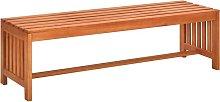vidaXL Banco de jardín 130 cm madera de eucalipto