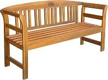 vidaXL Banco de jardín 157 cm madera acacia maciza