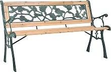 vidaXL Banco de jardín de madera 122 cm