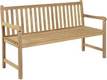 vidaXL Banco de jardín de madera de teca 150 cm