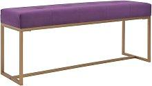 vidaXL Banco Terciopelo 120 cm Morado - Púrpura