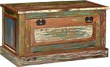 vidaXL Banco zapatero de madera maciza reciclada