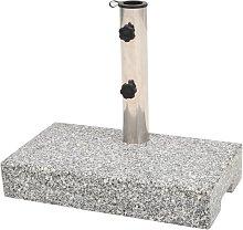 vidaXL Base de sombrilla de granito rectangular 25