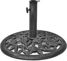 vidaXL Base de sombrilla de hierro fundido 12 kg
