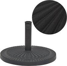vidaXL Base de sombrilla de resina redonda negro