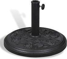 vidaXL Base de sombrilla redonda de resina - Negro