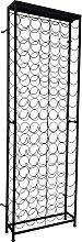 vidaXL Botellero de metal para 108 botellas