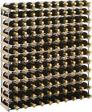 vidaXL Botellero para 120 botellas de madera