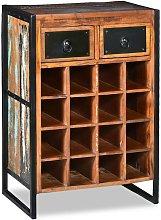 vidaXL Botellero para 16 botellas de madera maciza