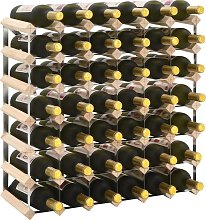 vidaXL Botellero para 42 botellas de madera maciza