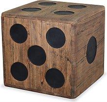 vidaXL Caja de almacenamiento madera mindi