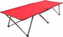 vidaXL Cama de camping rojo XXL 206x75x45 cm - Rojo