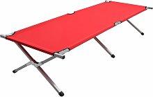 vidaXL Cama de camping rojo XXL 210x80x48 cm - Rojo