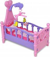Vidaxl - Cama de juguete para muñeca rosa + morada
