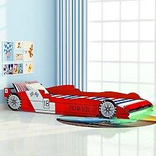 vidaXL Cama infantil con forma de coche carreras y