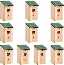 vidaXL Casa para pájaros 10 unidades madera
