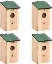 vidaXL Casa para pájaros 4 unidades madera