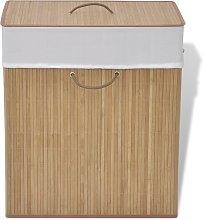 vidaXL Cesto de la ropa sucia de bambú