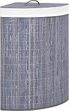 vidaXL Cesto de la ropa sucia de esquina bambú