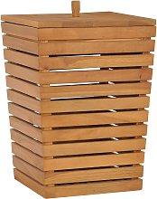 vidaXL Cesto de la ropa sucia madera maciza de