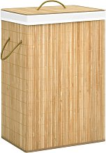 vidaXL Cesto de ropa sucia de bambú 72 L