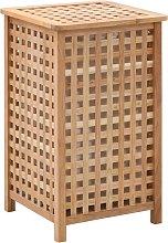 vidaXL Cesto para ropa sucia madera maciza de