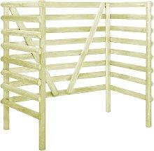vidaXL Cobertizo doble basura 140x80x150 cm madera