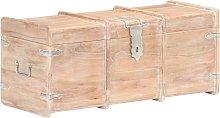 vidaXL Cofre de almacenamiento madera maciza de