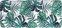 vidaXL Cojín de sofá de jardín patrón de hojas