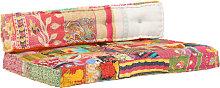vidaXL Cojín para sofá de palés tela multicolor