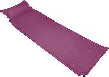 vidaXL Colchón de aire inflable con almohada rosa