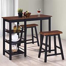 vidaXL Conjunto de mesa alta de cocina 3 piezas