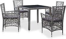 vidaXL Conjunto de muebles de jardín 5 piezas