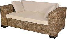 vidaXL Conjunto de sofá de dos plazas 7 piezas