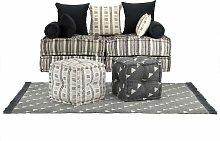 vidaXL Conjunto de sofá modular 15 piezas tela de