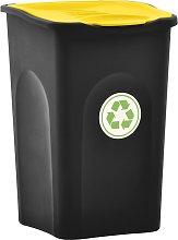 vidaXL Cubo de basura con tapa de bisagra 50 L