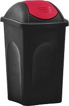 vidaXL Cubo de basura con tapa oscilante 60 L