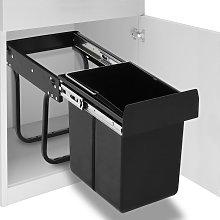 vidaXL Cubo de basura de cocina extraíble