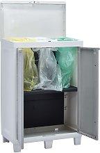 vidaXL Cubo de basura para jardín con 3 bolsas