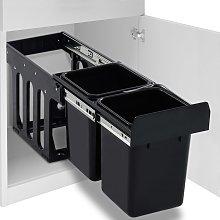 vidaXL Cubo de basura para reciclaje extraíble