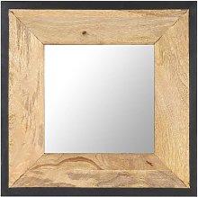 vidaXL Espejo de madera maciza de mango 50x50 cm -