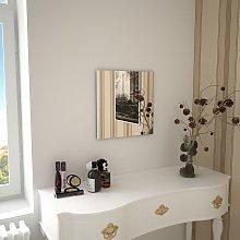 vidaXL Espejo de pared cuadrado vidrio 40x40 cm