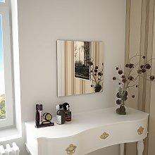 vidaXL Espejo de pared cuadrado vidrio 50x50 cm